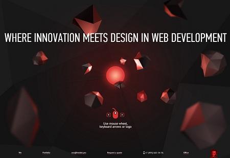 Parallax scrolling webdesign inspiration: Hot Dot