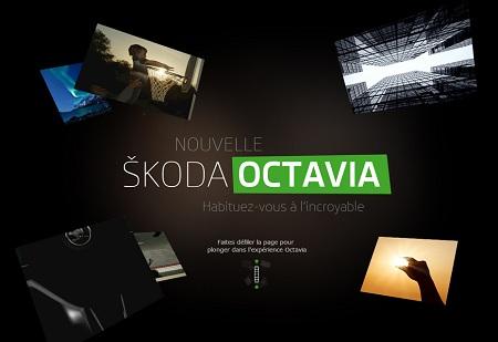 Parallax scrolling website webdesign inspiration: Skoda Octavia